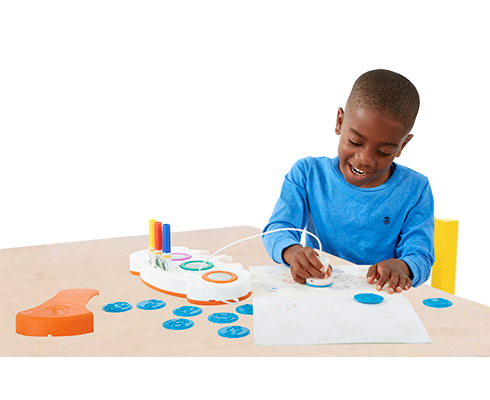 child stamping